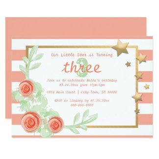 Invitation de fête d'anniversaire d'enfant/bébé -