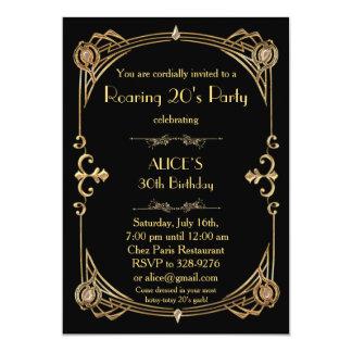 Invitation de fête d'anniversaire tout âge, art