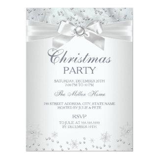 Invitation de fête de Noël de flocon de neige du