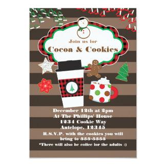 Invitation de fête de vacances de cacao et de Noël