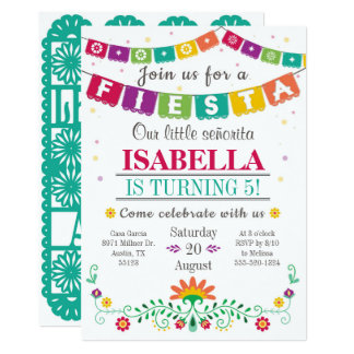 Invitation de fiesta - invitation d'anniversaire