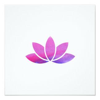 Invitation de fleur de Lotus d'aquarelle