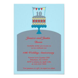 Invitation de gâteau d'anniversaire de mariage 10