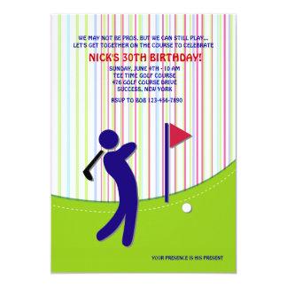 Invitation de golfeur