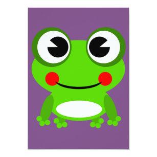 invitation de grenouille de grenouille de froggy