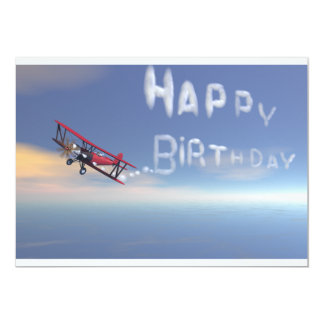 Invitation de joyeux anniversaire de Skywriter