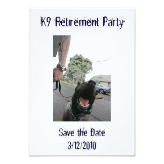 Invitation de la retraite K9