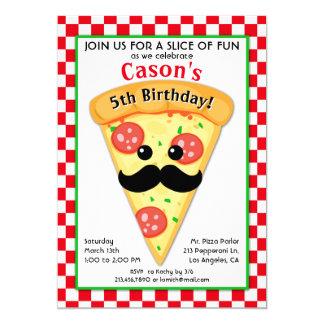 Invitation de l'anniversaire de pizza de l'enfant