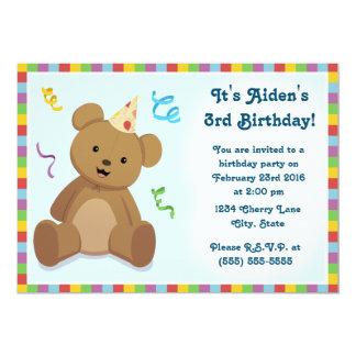 Invitation de l'anniversaire des enfants d'ours de