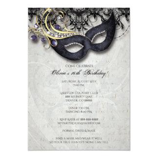 Invitation de mascarade de sweet sixteen