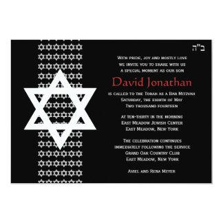 Invitation de Mitzvah de barre d'étoile de David