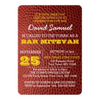 Invitation de Mitzvah de barre d'or de Footbal