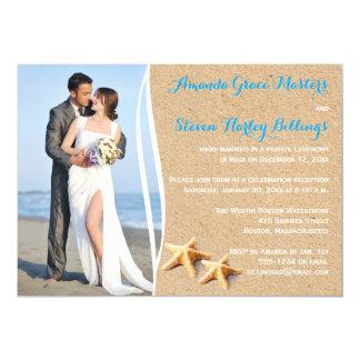 Invitation de modèle photo de réception de mariage