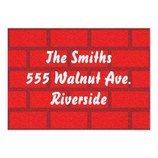 Invitation de mur de briques