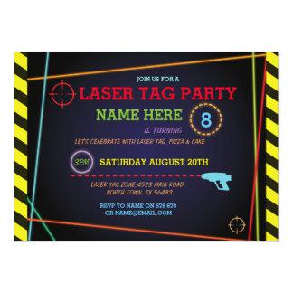 Invitation de néon de zone de fête d'anniversaire