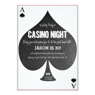 Invitation de nuit de casino