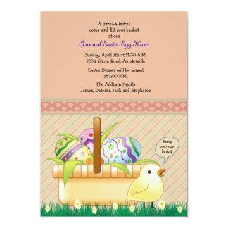 Invitation de panier de Pâques