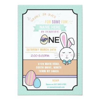 Invitation de Pâques de l'anniversaire UN de