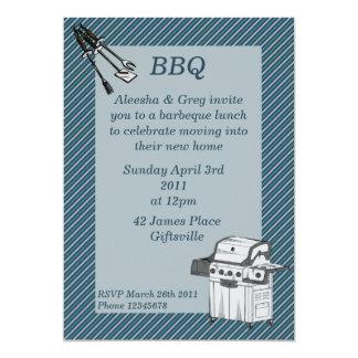 Invitation de partie de barbecue