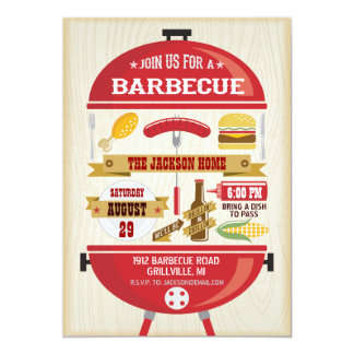 Invitation de partie de BBQ