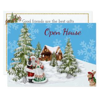 Invitation de partie de Chambre ouverte de Noël