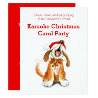 Invitation de partie de chant de Noël de karaoke