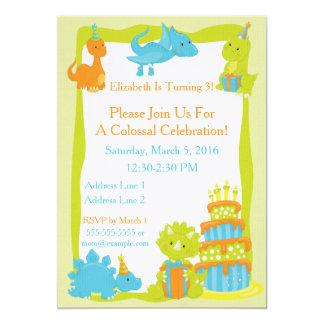Invitation de partie de dinosaure de bébé