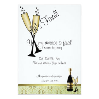 Invitation de partie de divorce de Champagne