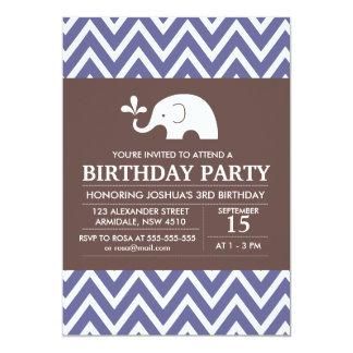 Invitation de partie de garçon d'anniversaire de carton d'invitation  12,7 cm x 17,78 cm
