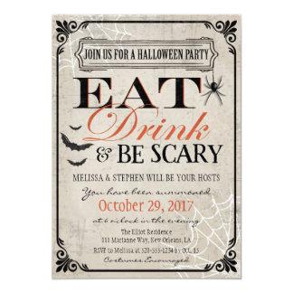 Invitation de partie de Halloween, anniversaire de
