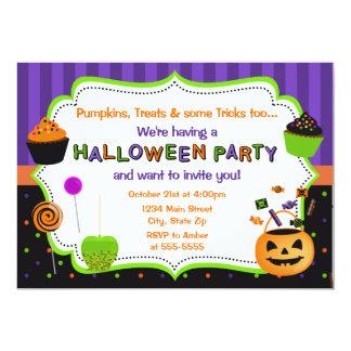 Invitation de partie de Halloween de l'enfant