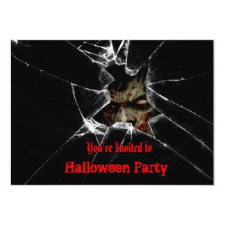 Invitation de partie de Halloween de zombis