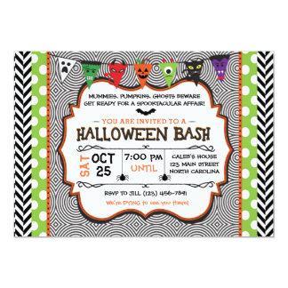 Invitation de partie de Halloween d'enfants,