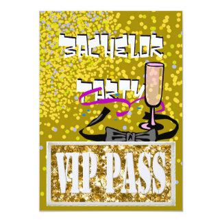 Invitation de partie de l'or VIP de célibataire