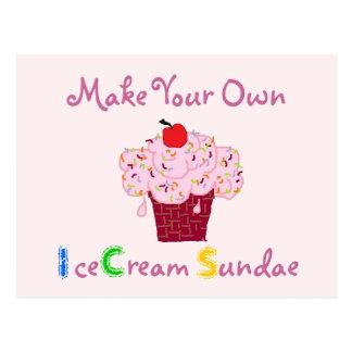 Invitation de partie de parfait de crème glacée