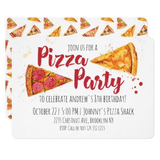 Invitation de partie de pizza