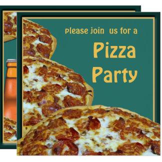 Invitation de partie de pizza et de bière
