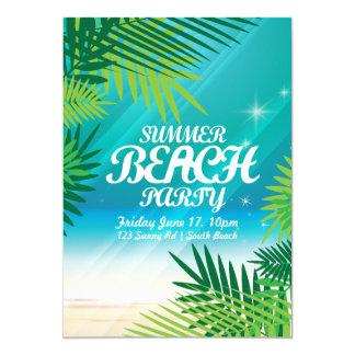 Invitation de partie de plage d'été