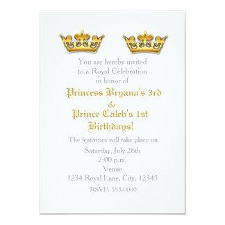 Invitation de partie de prince princesse Gold