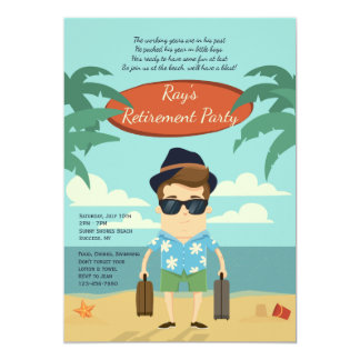 Invitation de partie de retraite de plage