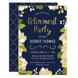 Invitation de partie de retraite, personnaliser