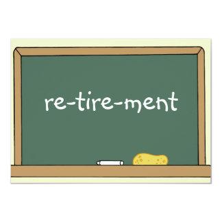 Invitation de partie de retraite pour un