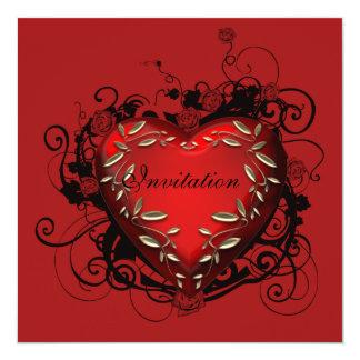 Invitation de partie de Saint-Valentin de coeur