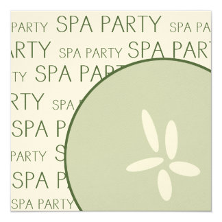 Invitation de partie de spa