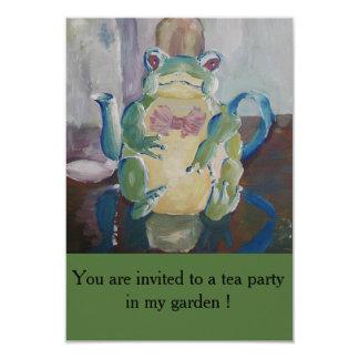 Invitation de partie de théière de grenouille