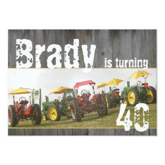 Invitation de partie de tracteur : Bois et