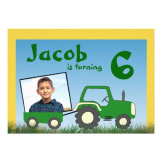 Invitation de partie de tracteur Photo dans le c
