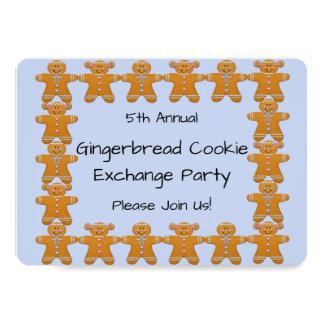 Invitation de partie d'échange de biscuit de pain