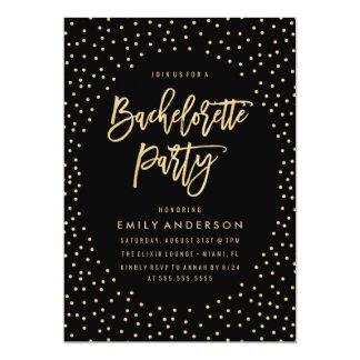 Invitation de partie des confettis | Bachelorette