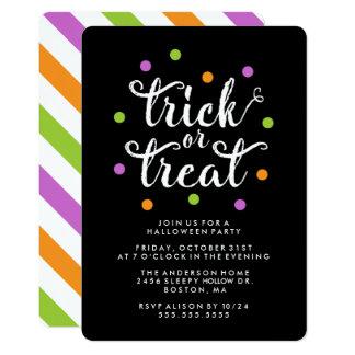 Invitation de partie des confettis | Halloween de